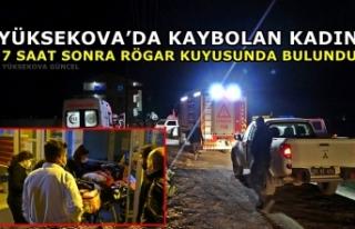 Yüksekova'da Kaybolan Kadın 7 Saat Sonra Rögar...