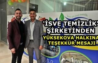 'İsve Temizlik' Şirketinden Yüksekova...