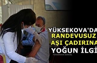 Yüksekova'da Randevusuz Aşı Çadırına Yoğun...