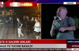 Halk TV canlı yayınına baskın ve yayın ekibine...
