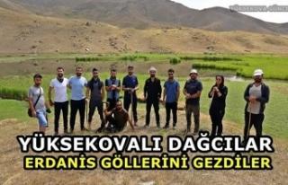 Yüksekovalı Dağcılar Erdanis Göllerini Gezdiler