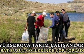 Yüksekova Tarım Çalışanları Sat Buzul Göllerinde...