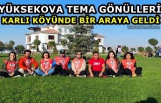 Yüksekova TEMA Gönülleri Karlı Köyünde Bir Araya...