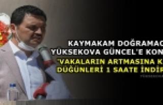 Doğramacı Yüksekova Güncel'e Konuştu:'Vakaların...