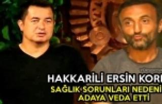 Hakkarili Ersin Korkut, Survivor'a Veda Etti