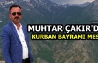 Muhtar Çakır'dan Kurban Bayramı Mesajı