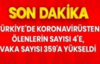 Türkiye'de koronavirüsten ölenlerin sayısı 4'e,...