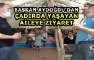 Yüksekova..! Başkan Aydoğdu'dan Çadırda Yaşayan...