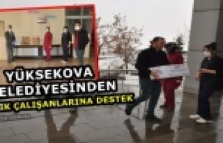 Yüksekova Belediyesinden Sağlık Çalışanlarına...