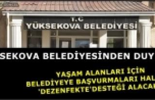 Yüksekova Belediyesinden Vatandaşa 'Dezenfekte'...