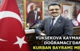 Yüksekova Kaymakamı Doğramacı'dan Kurban Bayramı...