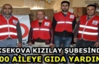 Yüksekova Kızılay Şubesinden 200 Aileye Gıda...