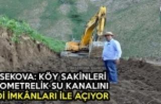 Yüksekova: Köy Sakinleri 5 Kilometrelik Su Kanalını...