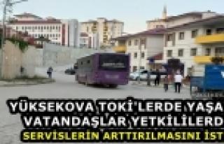 Yüksekova TOKİ Sitelerinde Yaşayan Vatandaşlardan...