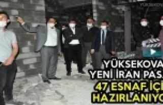 Yüksekova Yeni İran Pasajı 47 Esnaf İçin Hazırlanıyor
