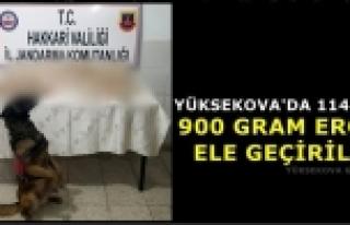 Yüksekova'da 114 Kilo 900 Gram Eroin Ele Geçirildi