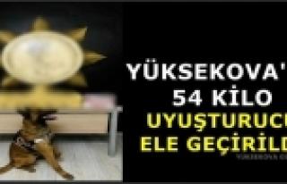 Yüksekova'da 54 Kilo Uyuşturucu Ele Geçirildi