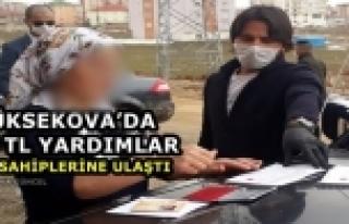 Yüksekova'da Bin TL Yardımlar Hak Sahiplerine...