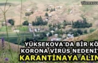 Yüksekova'da Bir Köy Korona Virüs Nedeniyle Karantinaya...
