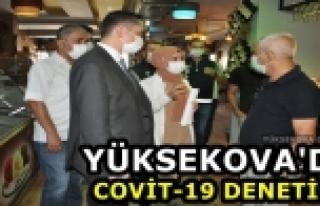 Yüksekova'da Covid-19 Denetimi