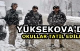 Yüksekova'da Okullara Kar Engeli