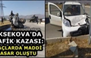 Yüksekova'da Trafik Kazası Meydana Geldi