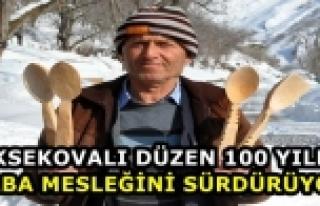 Yüksekovalı Düzen 100 Yıllık Baba Mesleğini...