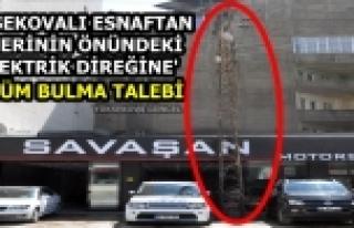 Yüksekovalı Esnaftan İş Yerinin Önündeki 'Elektrik...