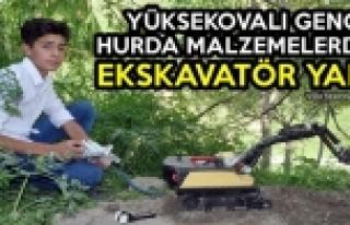Yüksekovalı Genç Hurda Malzemelerden Ekskavatör...