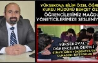 Yüksekovalı Öğrencilerden Yetkililere Çağrı:...