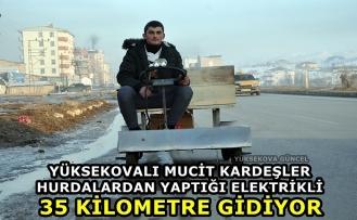 Yüksekovalı Mucit Kardeşler Hurdalardan Yaptığı Elektrikli Araç 35 Kilometre Gidiyor