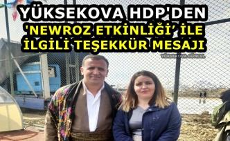 Yüksekova HDP'den 'Newroz Etkinliği' ile ilgili Teşekkür Mesajı