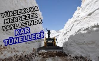 Yüksekova Mergezer Yaylasında Kar Tünelleri