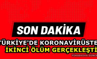Türkiye'de koronavirüsten ikinci ölüm gerçekleşti