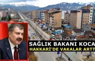 Sağlık Bakanı Koca: Hakkari'de Vakalar Arttı