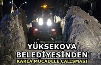 Yüksekova Belediyesinden Karla Mücadele Çalışması