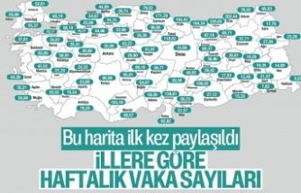 Bakan Koca, illere göre haftalık vaka sayılarını paylaştı! Karadeniz'deki 3 il alarm veriyor