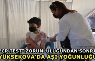 PCR Testi Zorunluluğundan Sonra Yüksekova'da Aşı Yoğunluğu