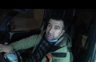 Yüksekova'da yoğun tipiden dolayı araçlar mahsur kaldı