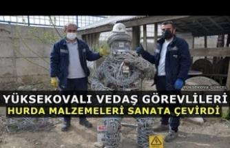Yüksekovalı VEDAŞ Görevlileri Hurda Malzemeleri Sanata Çevirdi