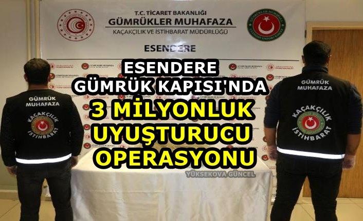 Esendere Gümrük Kapısı'nda 3 milyonluk uyuşturucu operasyonu