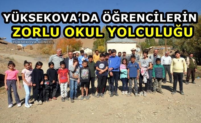 Yüksekova'nın Çalımlı Mezrasında Yaşayan Veliler, Öğrencilerine Taşıma Verilmesini İstiyorlar