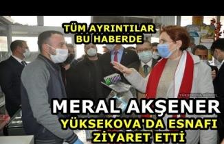 Meral Akşener Yüksekova'da Esnafı Ziyaret Etti