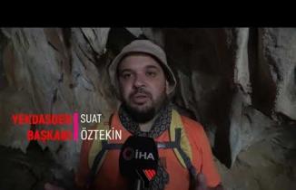 Yüksekova'da İçerisinde sarkıt ve dikitler olan mağara büyülüyor