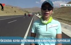 Yüksekova Kayak Antrenmanlarını Karayolunda Yapıyorlar